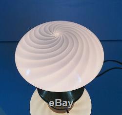 1 di 2 lovely mushroom lamp lampade fungo swirl MURANO glass vintage70 U