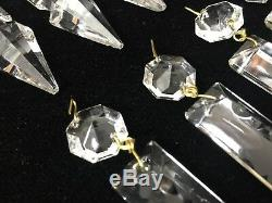 10 Pcs Vintage Murano Glass Italy Chandelier Lamp Part Replacement Spear Prisms