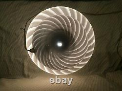 15 Vintage Murano Vetri-Inspired Glass Mushroom Lamp, Barely Used, Grey/Purple