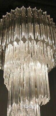 1970's VINTAGE CAMER MURANO GLASS VENINI CHANDELIER 80 crystals