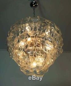 1970s Huge Italian Murano Vintage chandelier 96 glass Vistosi style
