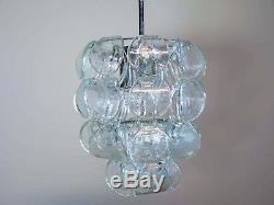 1970s Italian Murano Vintage chandelier 39 glass Vistosi style