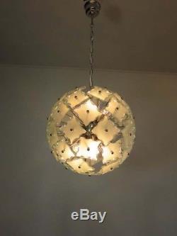 1970s Sputnik Italian Vintage Murano glass chandelier Fontana Arte style