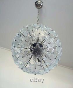 1970s Sputnik Italian Vintage Murano glass chandelier in Venini Zuccheri style