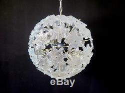 1970s Sputnik Italian Vintage Murano glass chandelier iridescent glasses