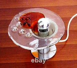 1970s Table Lamp Toni Zuccheri Venini Amber Murano Glass Vintage Design Italian