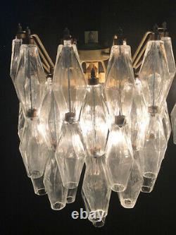 1970s Vintage Murano Italian POLIEDRI glass appliques