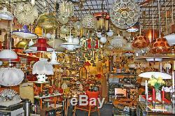 60s Vintage Table Lamp Desk Light Chrome White Murano Glass Mazzega Carlo Nason