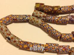 Antique Italy glass Murano Millefiori German trade beads necklace (m1336)