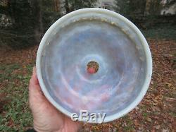 Antique Vintage Murano Glass Iridescent Chandelier 9 Globe Shade Light Fixture