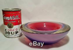 Antonio da Ros Gino Cenedese vtg mcm murano art glass seguso bowl
