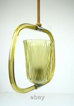 Barovier & Toso Murano Glass MID Century Chandelier Ceiling Lamp Art Deco