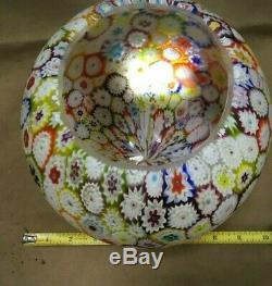 Beautiful VINTAGE MILLEFIORI MURANO ITALY 8 Large GLASS LAMP SHADE GLOBE