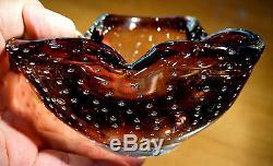 Beautiful Vintage Murano Purple Glass Bowl