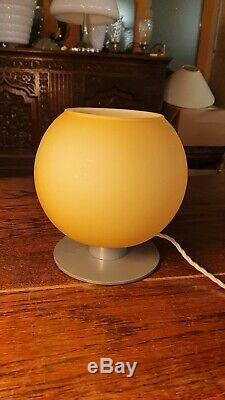 CASAMANIA Vintage Italian Glass Table Lamp With Murano Glass, Retro Lighting