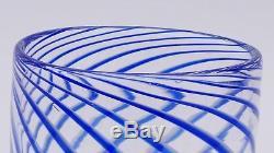 Design Murano Glasvase art glass VASE mundgeblasen Vintage Studioglas Spirale