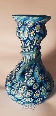 Exceptional vintage millefiori vase, perfect condition Murano