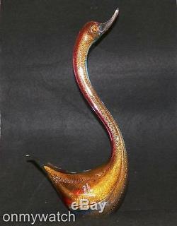 FABULOUS Vtg MURANO Swan FORMiA LABEL Italian ArT GLaSs Duck Bird GORGEOUS