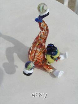 Fantastic Vintage Venetian Murano Art Glass Upside Down Clown Juggling Balls 10