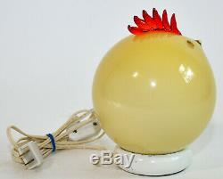 Formia Vetri di Murano Italian Glass Chicken Rooster Lamp Sculpture Labeled VTG