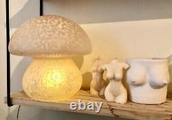 Glass mushroom table lamp Genuine 1980s Vintage LampGustaf murano vetri swirl