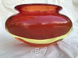 Good Flavio Poli sommerso glass vase, vintage Seguso Murano