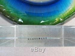 Gorgeous Vintage MURANO Art Glass Hand Blown Triple Cased Sommerso Sculpture 15
