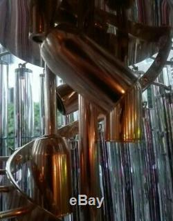 Grande Lampadario Vintage Cascata Venini vetro glass chandelier Murano 1960