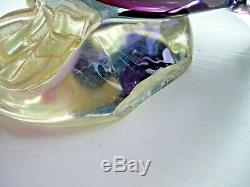 HUGE 30cm vintage Italian Murano Alfredo Barbini sommerso gold glass pelican 5KG