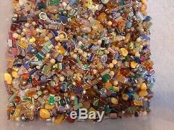 HUGE 7 LB + Lot Vintage Murano Millifori Crystal Glass Stone BEADS