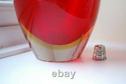 HUGE Vintage Cenedese Antonio Da Ros Murano labels uranium sommerso glass bottle