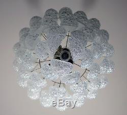 Huge Italian vintage Murano chandelier 52 glass petals drop Mazzega Creator