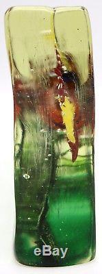 Immense CENEDESE Vintage MURANO AQUARIUM Block Art Glass SCULPTURE 10.5