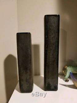 Important Black Scavo Vintage Murano Vases by Alfredo Barbini