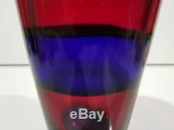 Important Fulvio Bianconi Vase for I. V. R. Mazzega Vintage Murano Glass