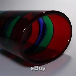 Important Fulvio Bianconi Vase for I. V. R. Mazzega Vintage Murano Glass Large