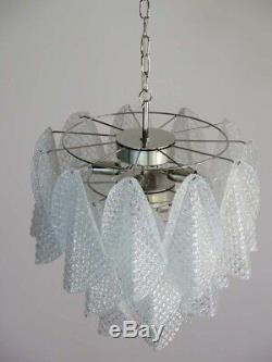 Italian vintage Murano chandelier 24 glass rondini