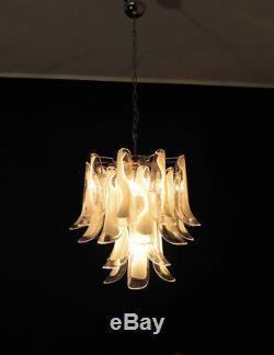 Italian vintage Murano chandelier 26 glass petals