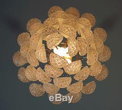 Italian vintage Murano chandelier 41 glass petals drop