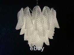Italian vintage Murano chandelier 41 glass rondini