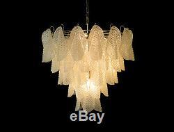 Italian vintage Murano chandelier 50 glass rondini
