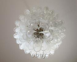 Italian vintage Murano chandelier 75 glass petals