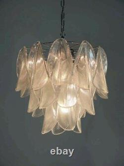 Italian vintage Murano chandelier Mazzega 23 rondini crystal glass