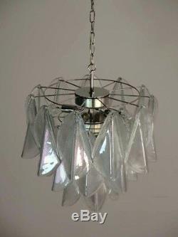 Italian vintage Murano chandelier Mazzega 24 rondini crystal glass