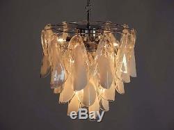 Italian vintage Murano chandelier Mazzega 24 rondini glass