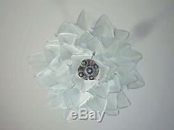 Italian vintage Murano chandelier Mazzega 41 rondini crystal glass