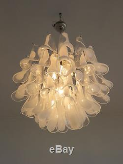 Italian vintage Murano chandelier in the manner of Mazzega 41 glasses