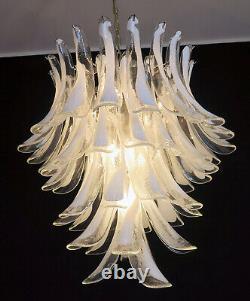 Italian vintage Murano chandelier in the manner of Mazzega 52 big glass petals