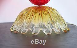 Italian vintage Murano glass abajour Barovier style