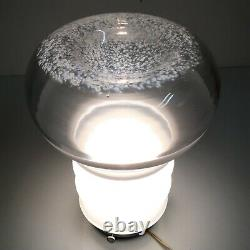 LAMPADA DA TAVOLO TERRA ANNI 70 VETRO MURANO VINTAGE LAMP GLASS nason mazzega